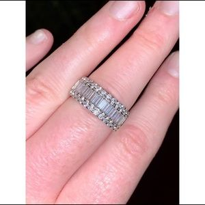 Sterling Silver Baguette Band